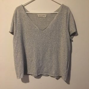 Project social Tee knit V neck shirt Sz Sm